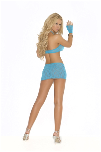 Elegant Moments 3-Piece Lace Cami Top Set Turquoise