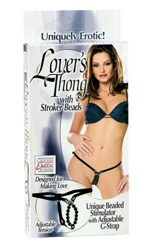 California Exotic Lovers Thong With Stroker Beads