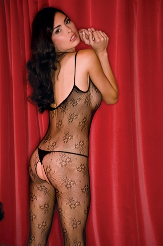 Rene Rofe Floral Lace Body Stocking