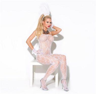 Elegant Moments Lace Body Stocking White