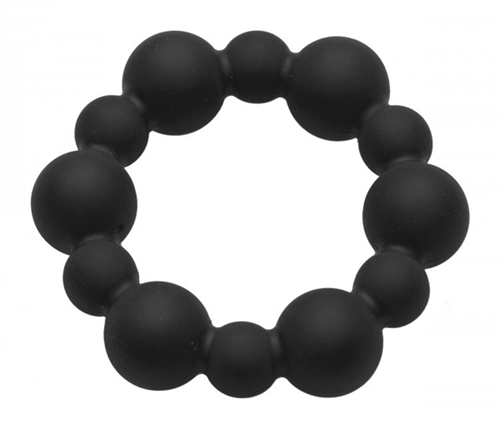 Master Series Shadow Silicone Beaded Cock Ring