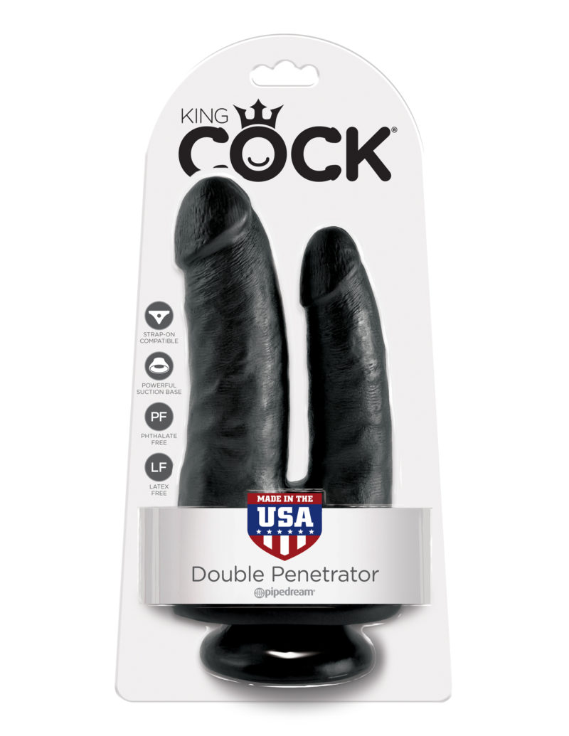 Pipedream King Cock Double Penetrator Black