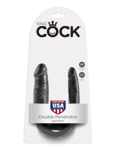Pipedream King Cock U-Shaped Small Double Trouble Black