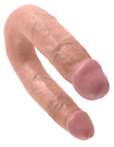 Pipedream King Cock U-Shaped Medium Double Trouble Flesh