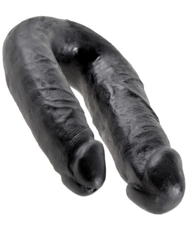 Pipedream King Cock U-Shaped Medium Double Trouble Black
