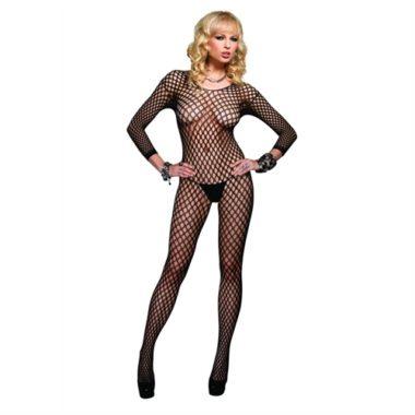 Leg Avenue Seamless Long Sleeved Ring Net Body Stocking