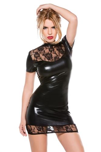 Allure Lingerie Kitten Lace & Wet Looks Dress