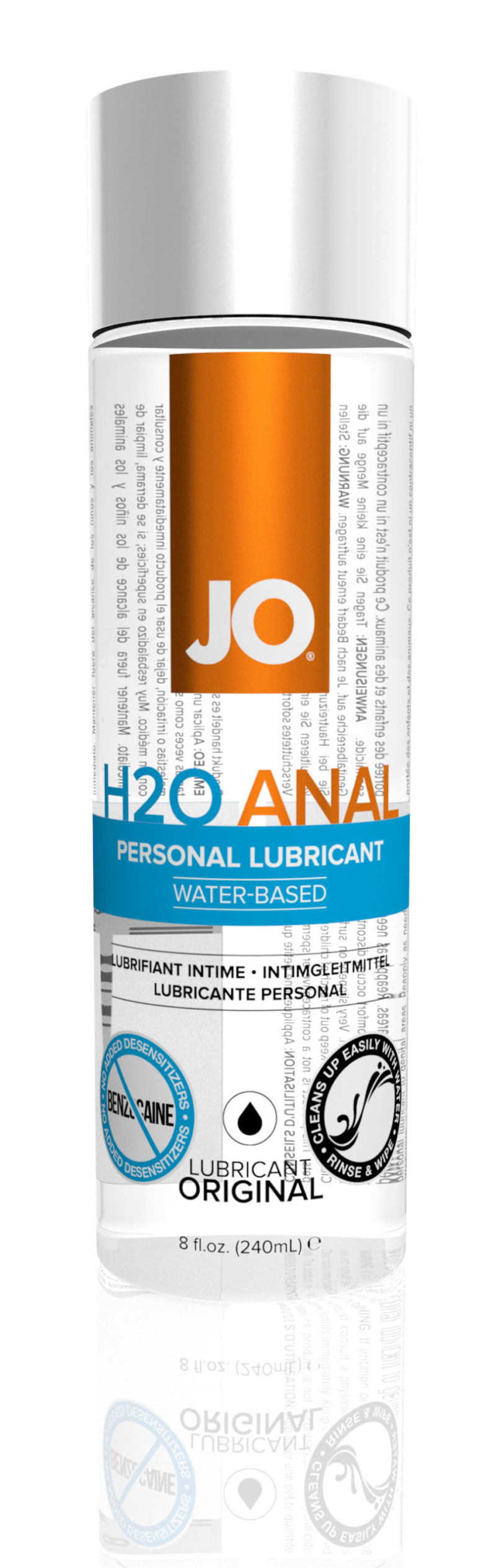 System JO H2O Anal Water-Based Lubricant 8OZ