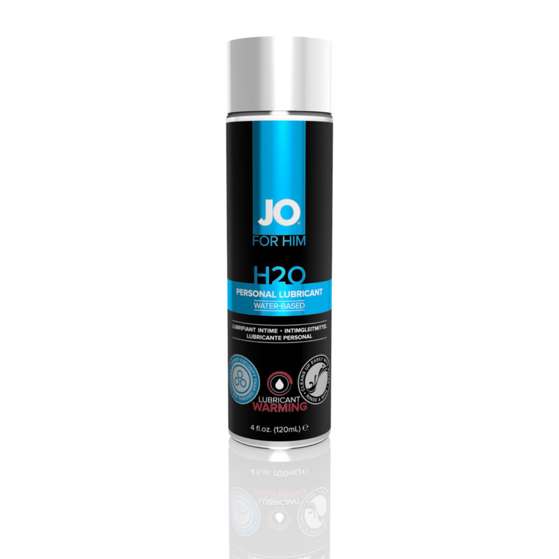 System JO For Men H2O Warming Water-Based Lubricant 4OZ