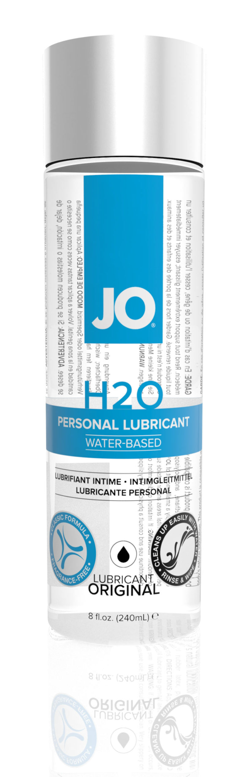 System JO H2O Water-Based Lubricant 8OZ