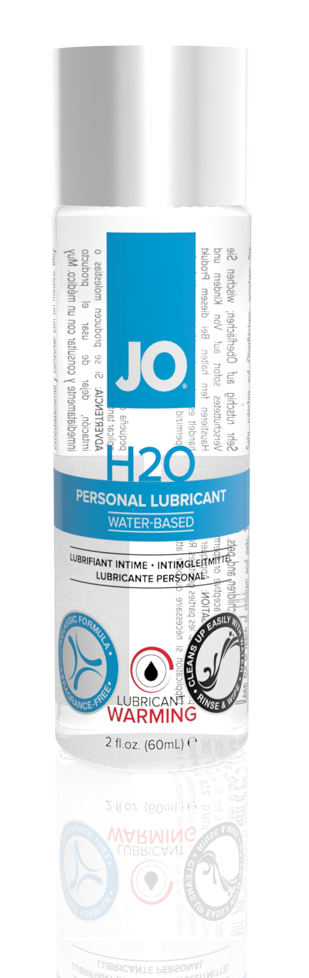 System JO H2O Water-Based Warming Lubricant 2OZ