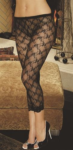 Elegant Moments Lace Leggings Black