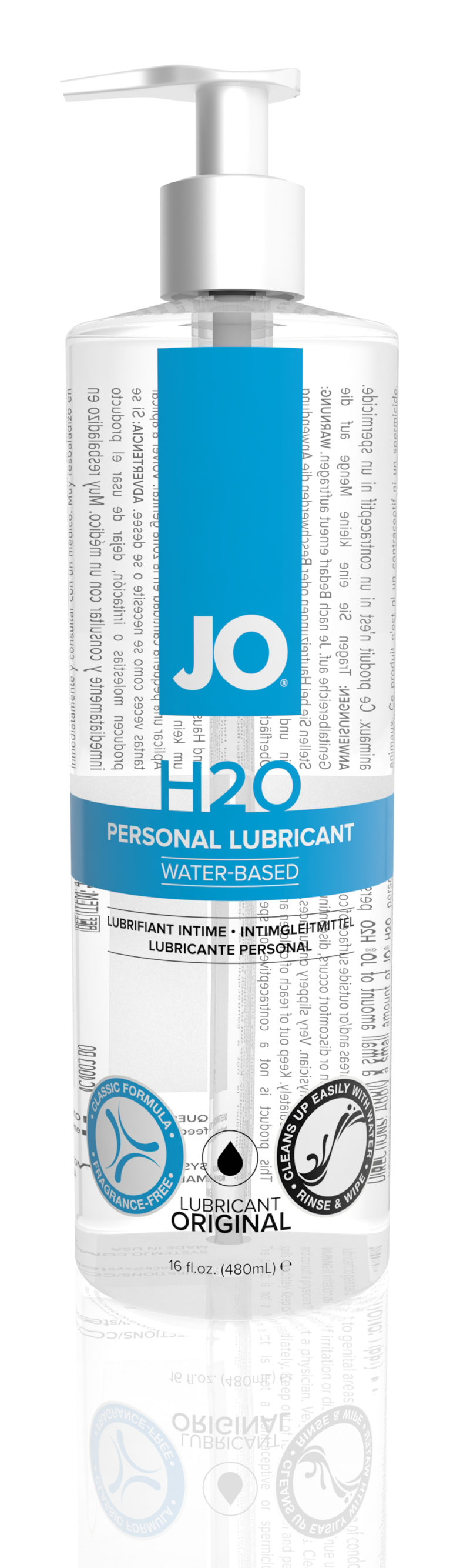 System JO H2O Water-Based Lubricant 16OZ