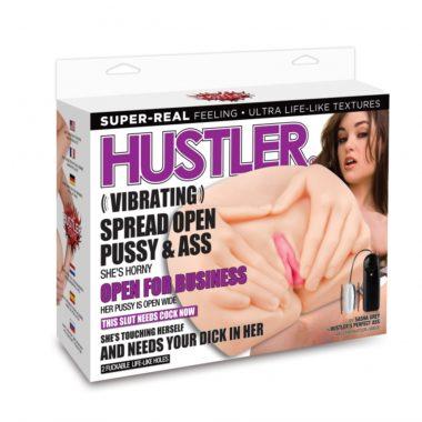 Hustler Vibrating Spread Open Pussy & Ass