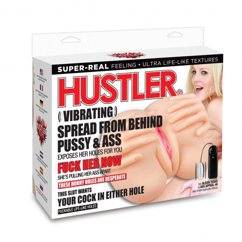 Hustler Vibrating Spread From Behind Pussy & Ass