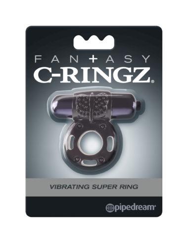 Pipedream Fantasy C-Ringz Vibrating Super Ring Black