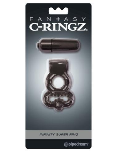 Pipedream Fantasy C-Ringz Infinity Super Ring Black