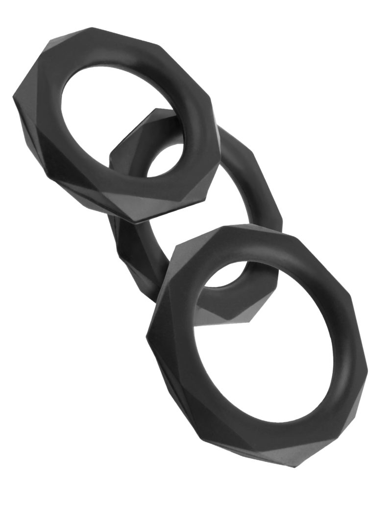 Pipedream Fantasy C-Ringz Silicone Designer Stamina Set Black