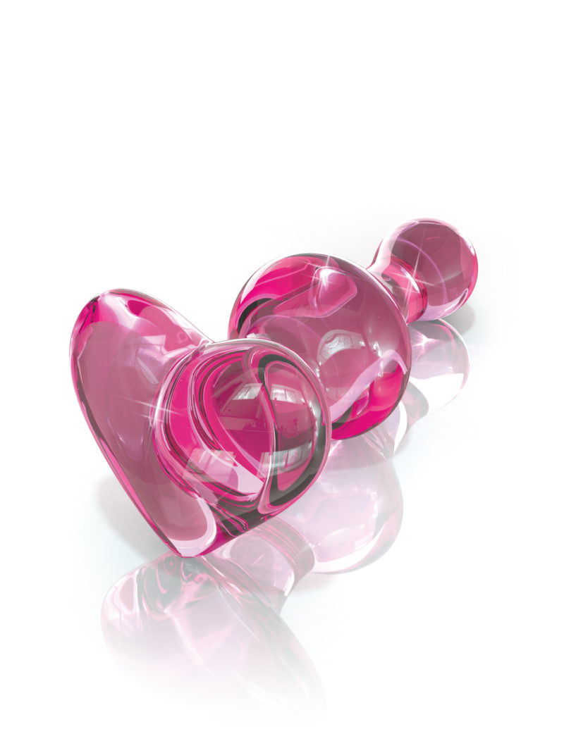 Pipedream Icicles No.75 Glass Anal Plug Pink