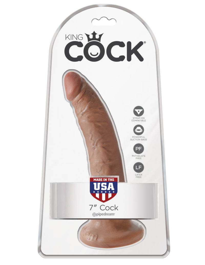 "Pipedream King Cock 7"" Cock Tan"