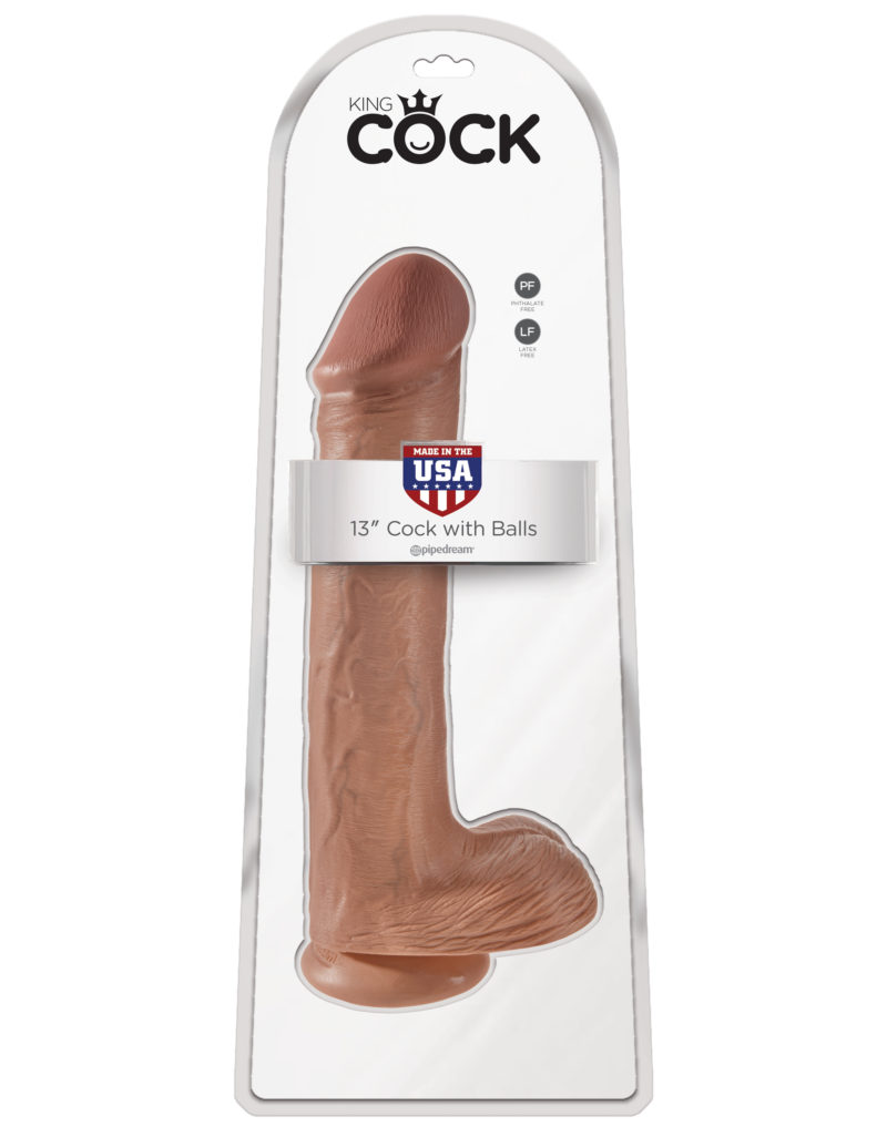 """Pipedream King Cock 13"""" Cock With Balls Tan"""