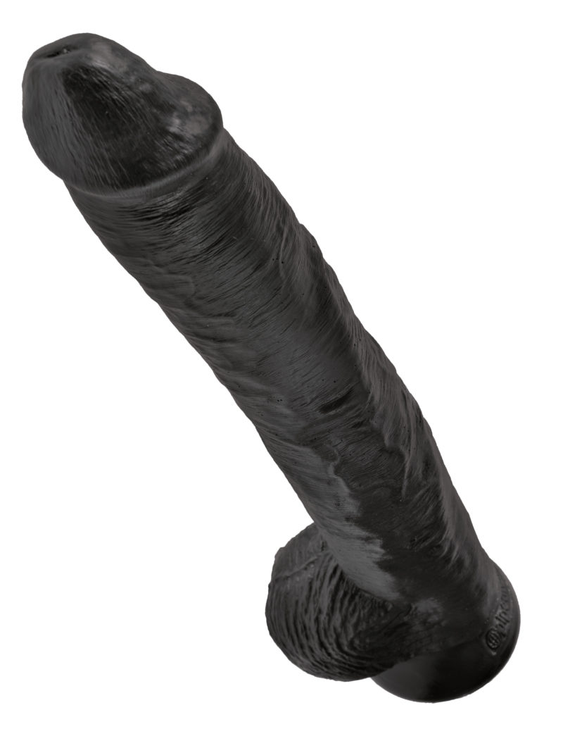 "Pipedream King Cock 14"" Cock With Balls Black"