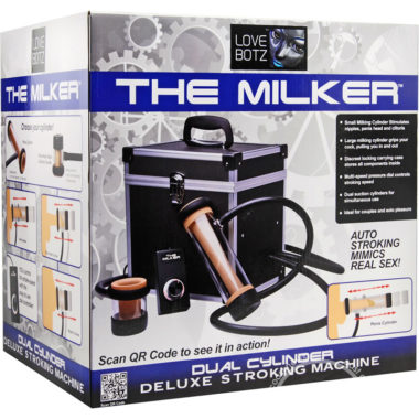 Love Botz The Milker Dual Cylinder Deluxe Stroking Machine