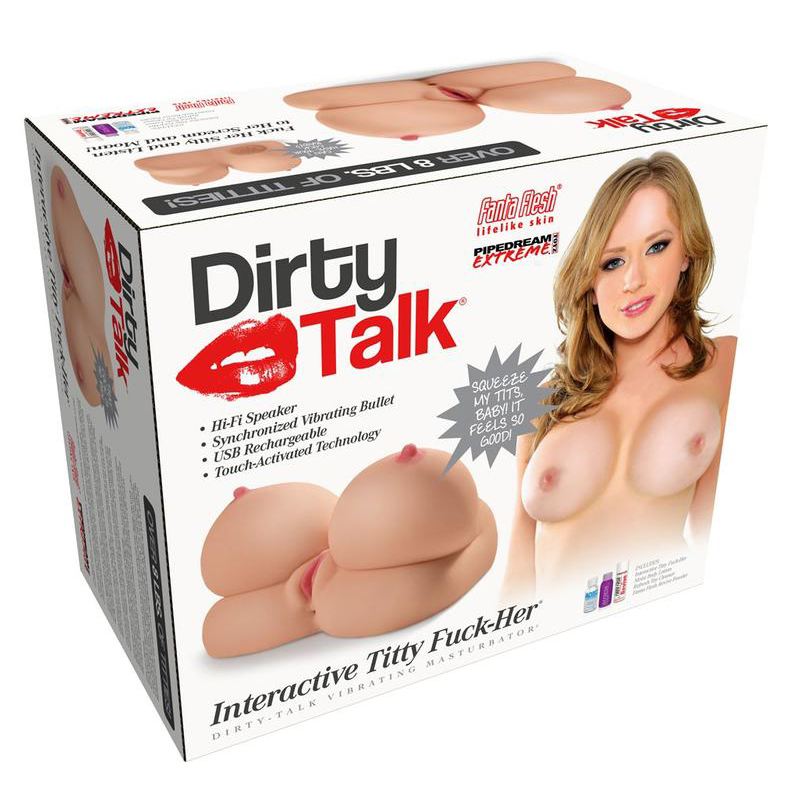 Dirty Talk Interactive Titty Fuck Her Vibrating Masturbator Flesh