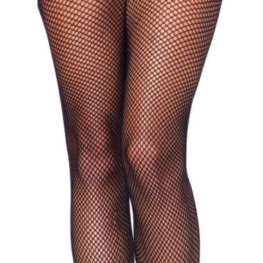 Crotchless Black Fishnet Pantyhose Queen Size