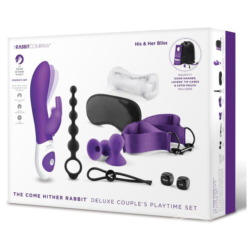 The Come Hither Rabbit Deluxe Couple's Playtime Set