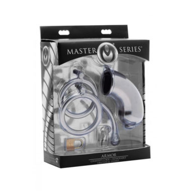 Master Series Armor Chastity Cage And Removable Urethral Insert