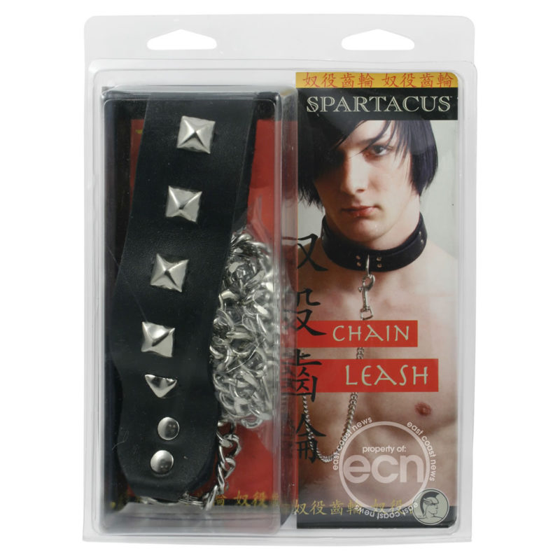 Chain Leash With Studded Handle